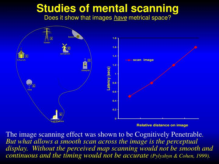 Studies of mental scanning