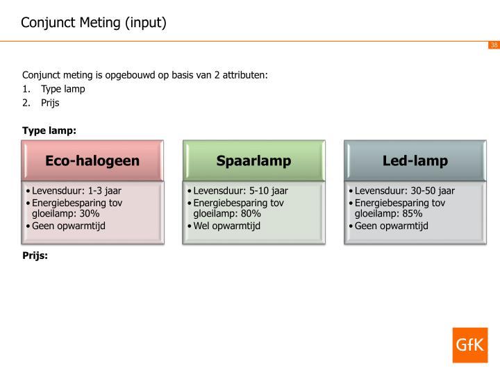 Conjunct Meting (input)