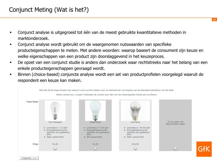Conjunct Meting (Wat is het?)