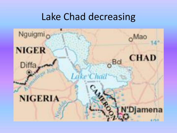 Lake Chad decreasing