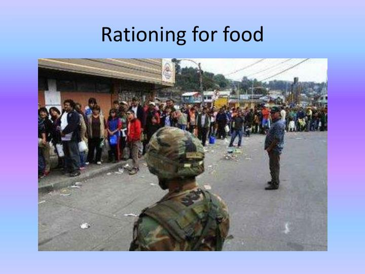 Rationing for food