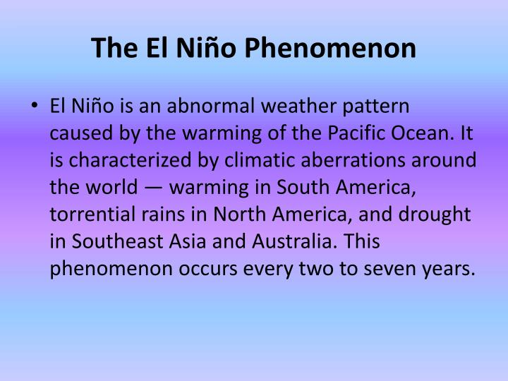 The El Niño Phenomenon