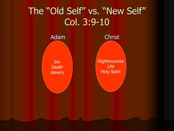"The ""Old Self"" vs. ""New Self"""