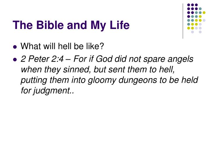 The Bible and My