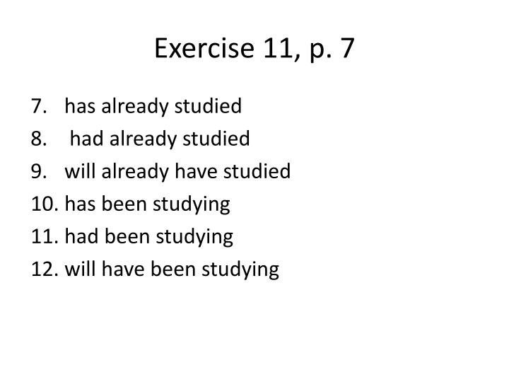Exercise 11, p.