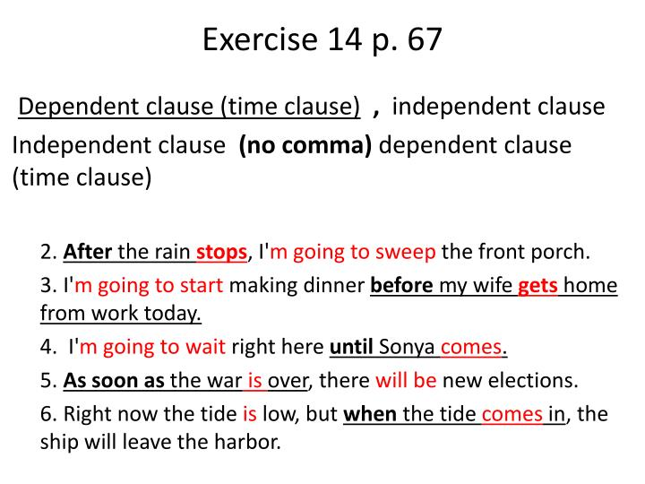 Exercise 14 p. 67
