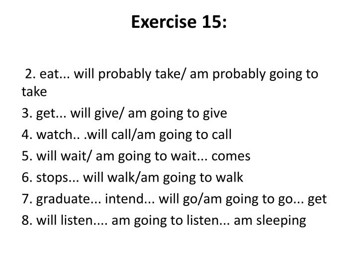 Exercise 15: