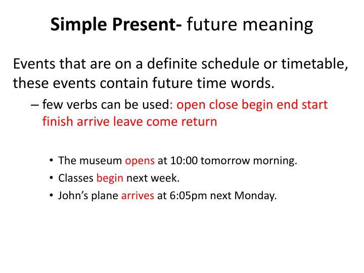 Simple Present-