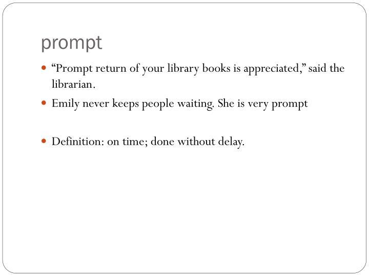 prompt