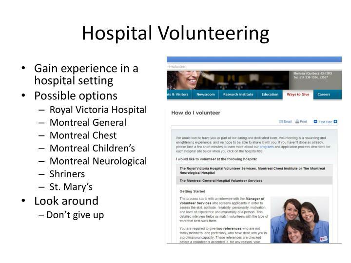 Hospital Volunteering