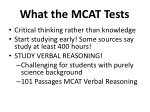 what the mcat tests
