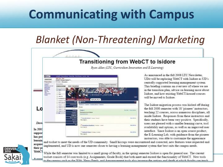 Communicating with Campus