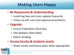 making users happy