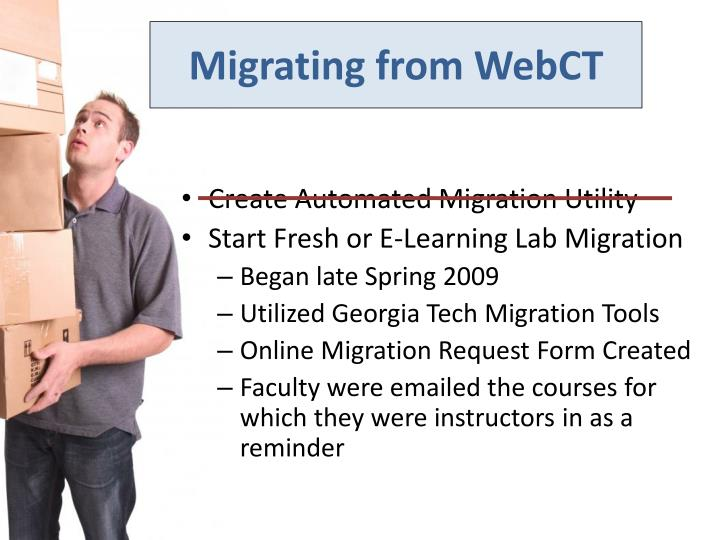 Migrating from WebCT