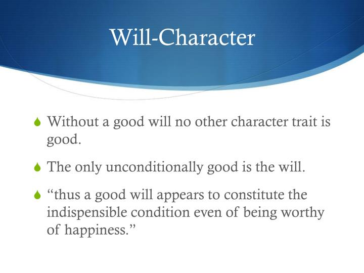 Will-Character