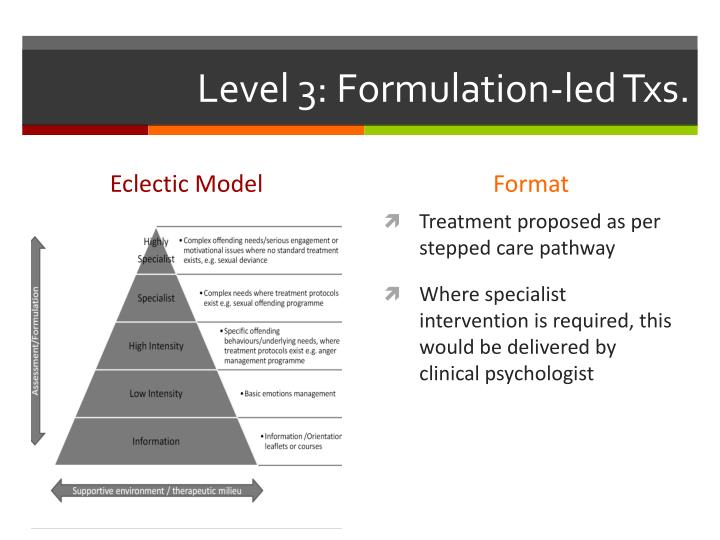 Level 3: Formulation-led