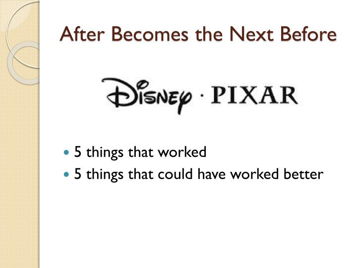 After Becomes the Next Before