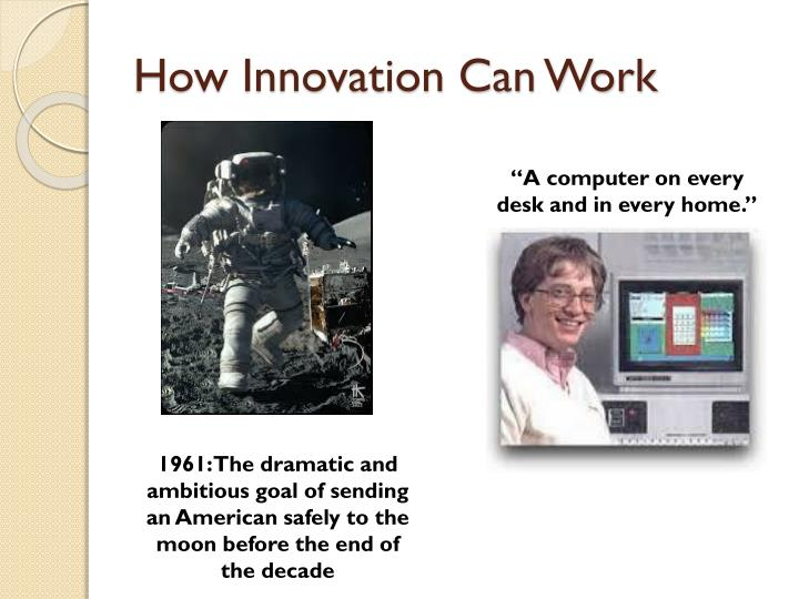 How Innovation Can Work