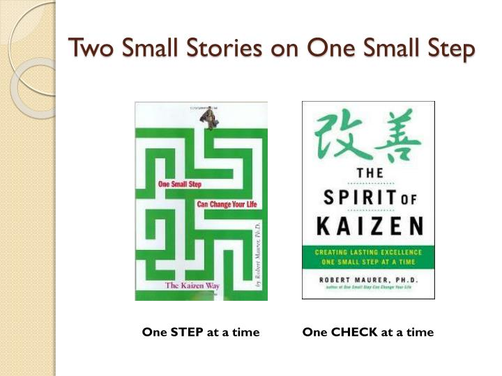 Two Small Stories on One Small Step