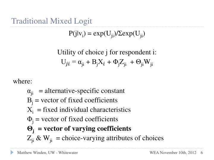 Traditional Mixed Logit