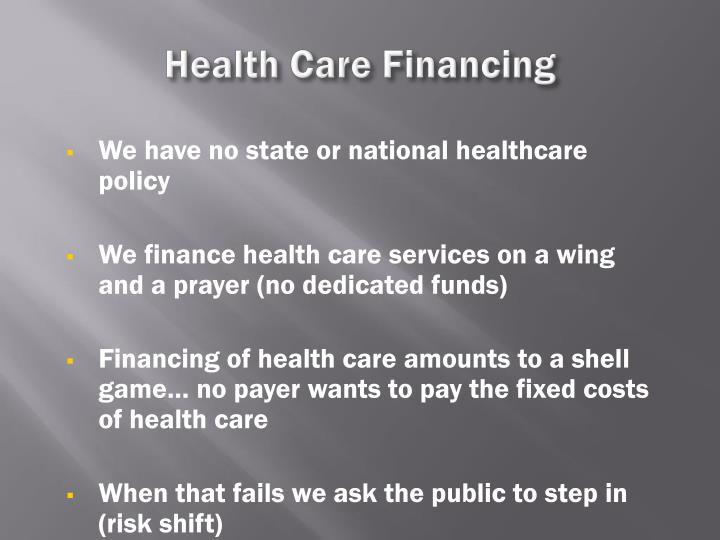 Health Care Financing