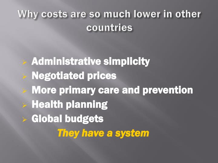 Why costs are so much lower in other countries