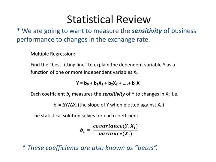 Statistical Review