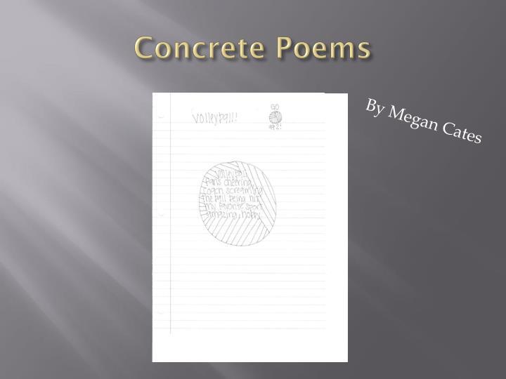 Concrete Poems