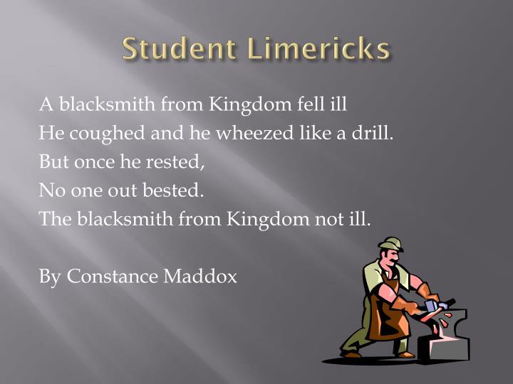 Student Limericks