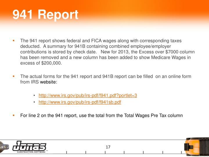 941 Report