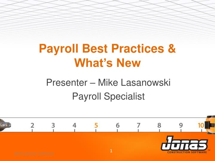 Payroll best practices what s new