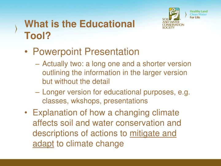 What is the Educational Tool?