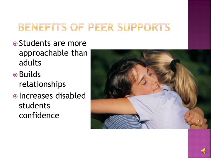 Benefits of peer supports