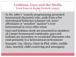 lesbians gays and the media fred fejes kevin petrich 1993