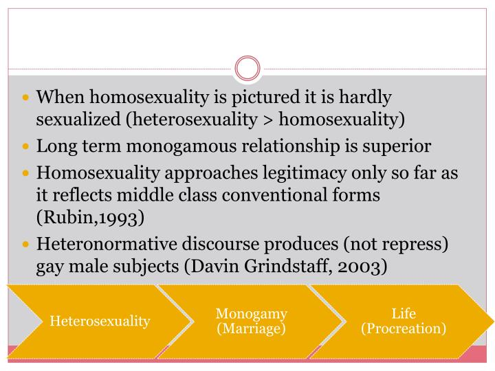 When homosexuality is pictured it is hardly sexualized (heterosexuality > homosexuality)