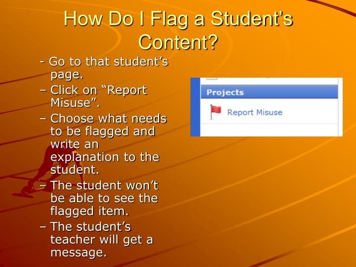 How Do I Flag a Student's Content?
