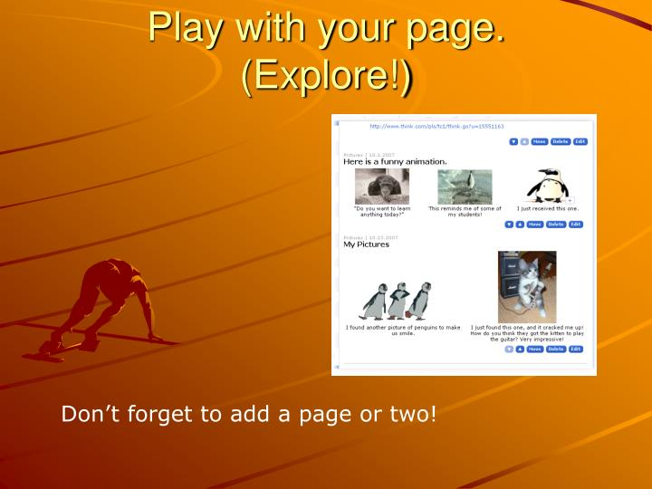 Play with your page.