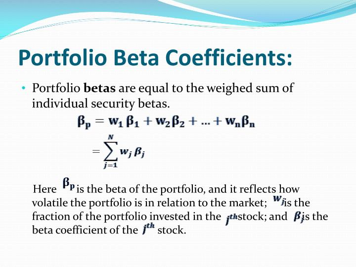 Portfolio Beta Coefficients: