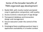 some of the broader benefits of tma organized app development