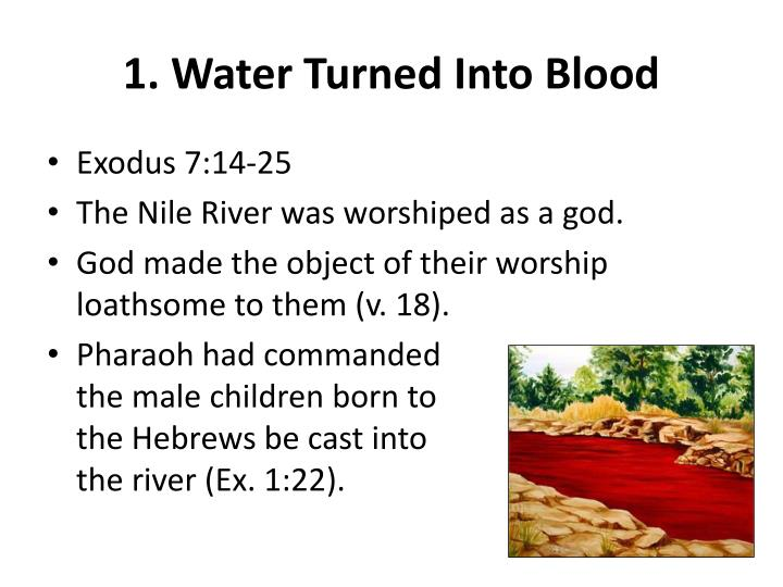 1. Water Turned Into Blood