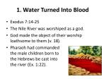 1 water turned into blood