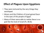 effect of plagues upon egyptians