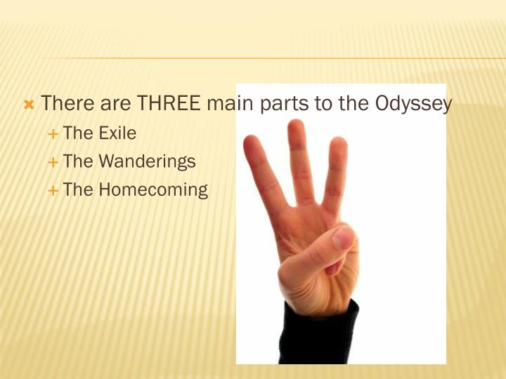 There are THREE main parts to the Odyssey