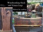 woodworking stock and veneer logs