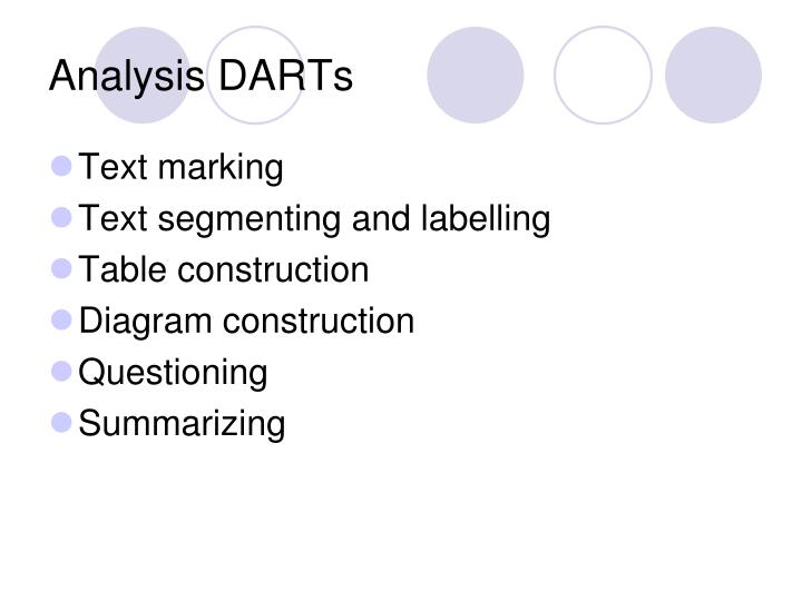 Analysis DARTs