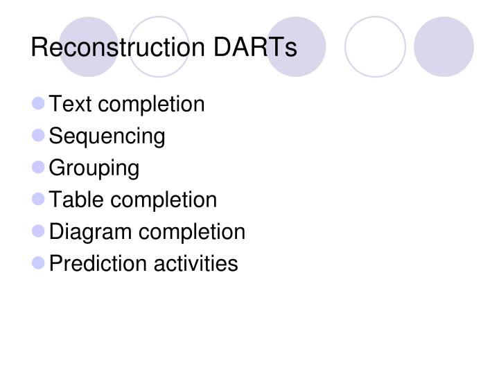 Reconstruction DARTs