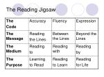 the reading jigsaw