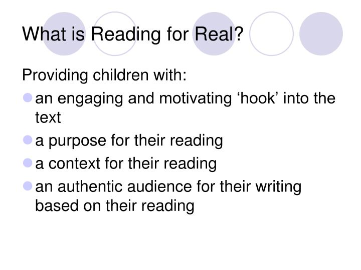 What is Reading for Real?