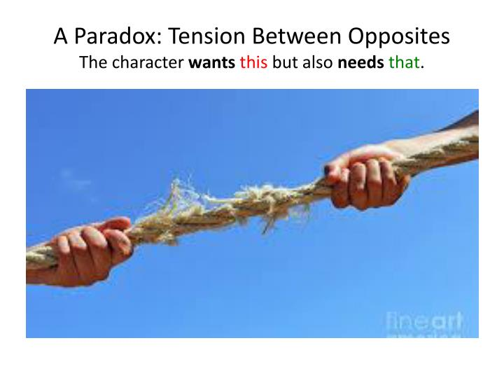 A Paradox: Tension Between Opposites