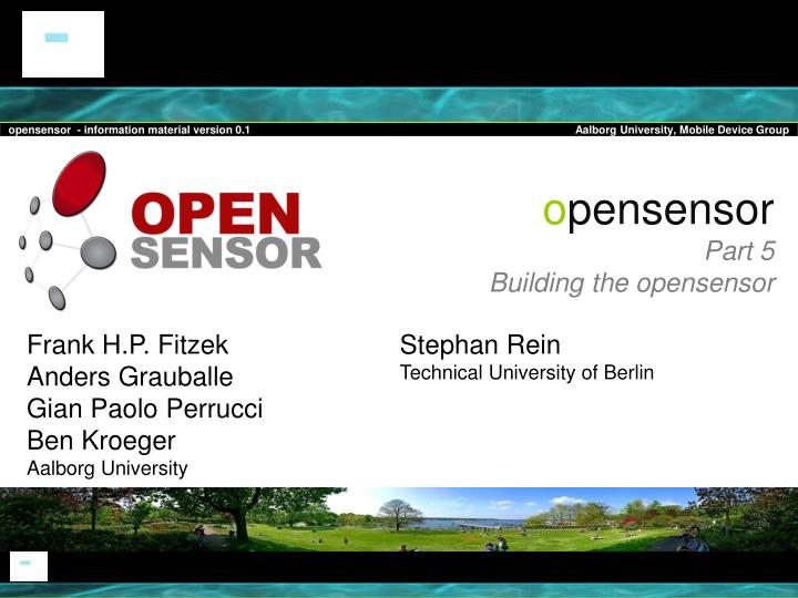 O pensensor part 5 building the opensensor